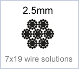 2.5mm 7x19 wire solutions
