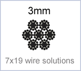 3mm 7x19 wire solutions