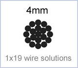 4mm 1x19 wire solutions