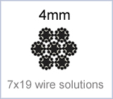 4mm 7x19 wire solutions