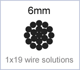 6mm 1x19 wire solutions