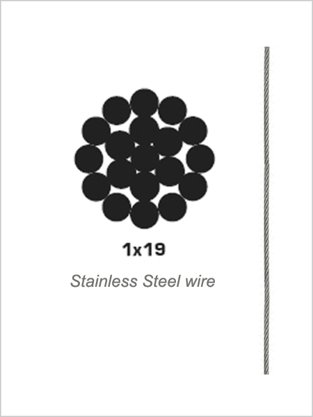 2.5mm 1x19 Stainless Steel Wire Rope