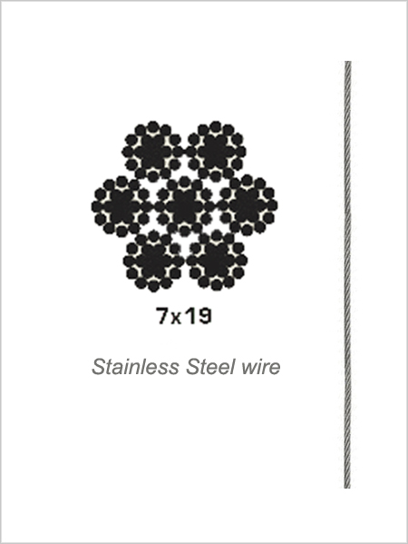 2.5mm 7x19 Stainless Steel Wire Rope