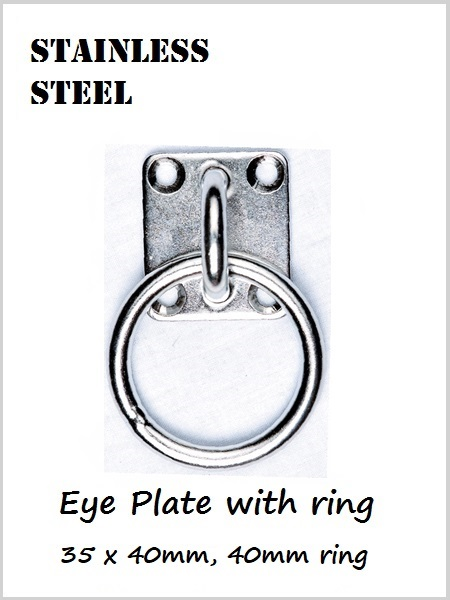 Stainless steel Eye plate and Ring  40mm x 35mm